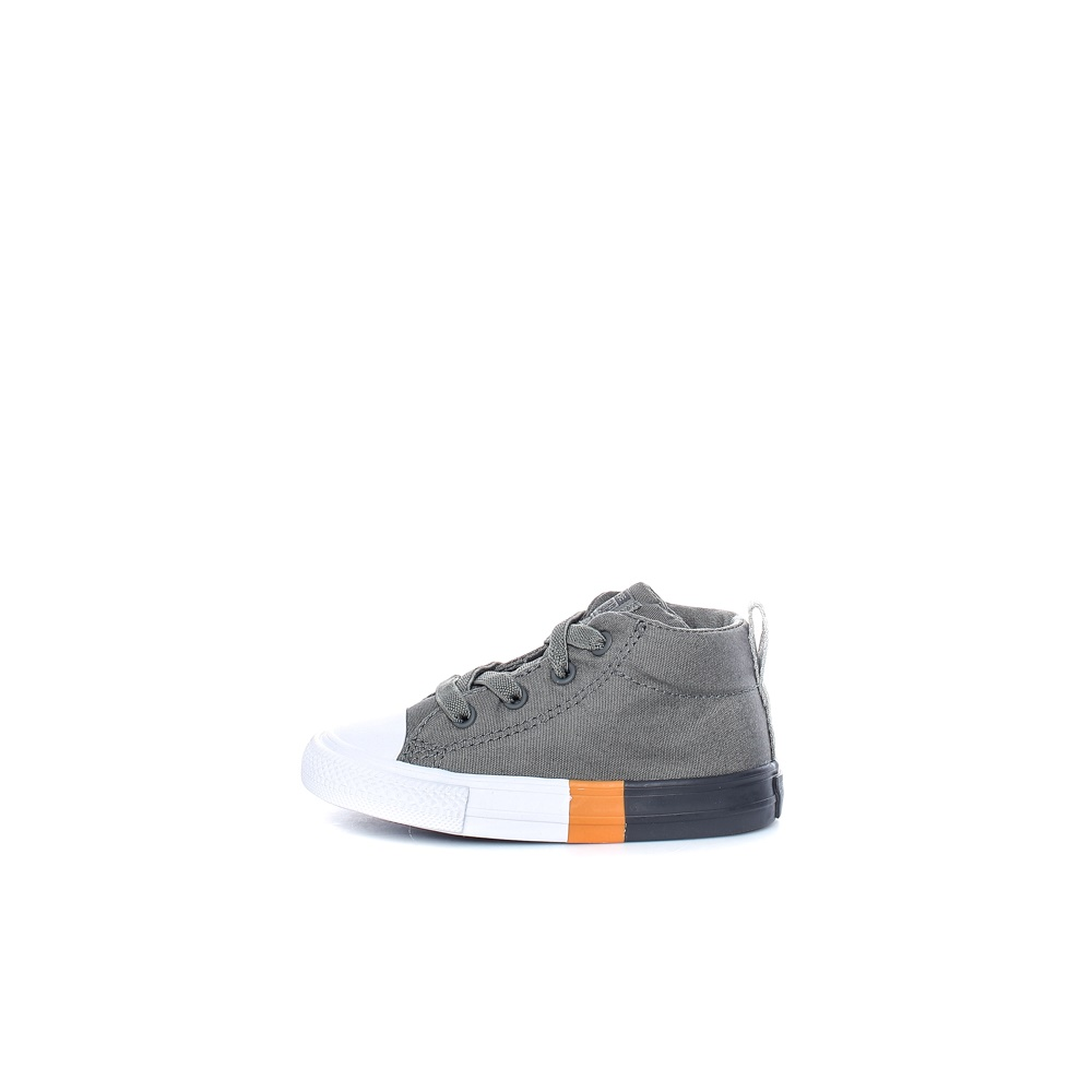CONVERSE – Βρεφικά μποτάκια Chuck Taylor All Star Street γκρι