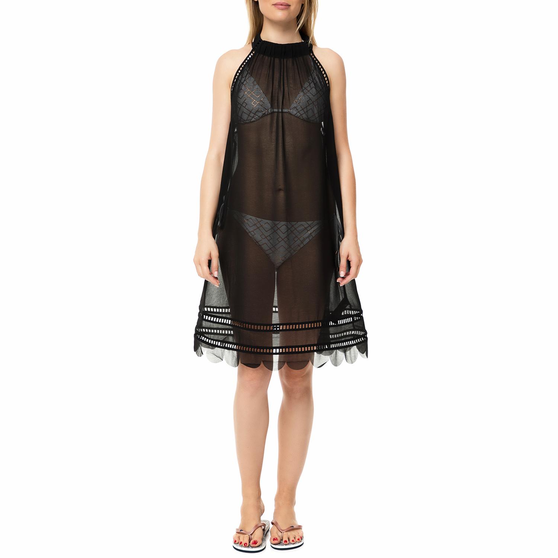 TED BAKER - Γυναικείο διάφανο μίνι beachwear φόρεμα TED BAKER KELSAA POINTELLE μ γυναικεία ρούχα φορέματα μίνι