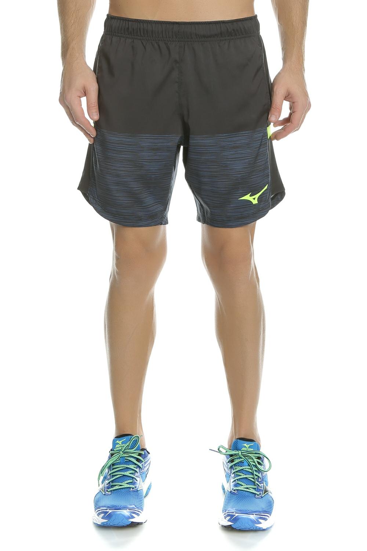 MIZUNO - Ανδρικό σορτς για τρέξιμο Printed Shorts μαύρο - μπλε ανδρικά ρούχα σορτς βερμούδες αθλητικά