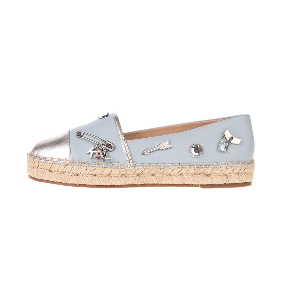 KARL LAGERFELD – Γυναικείες εσπαντρίγιες KARL LAGERFELD Souvenir Pin Slip On, ασημί