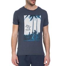 BASEHIT-Ανδρική κοντομάνικη μπλούζα Basehit μπλε