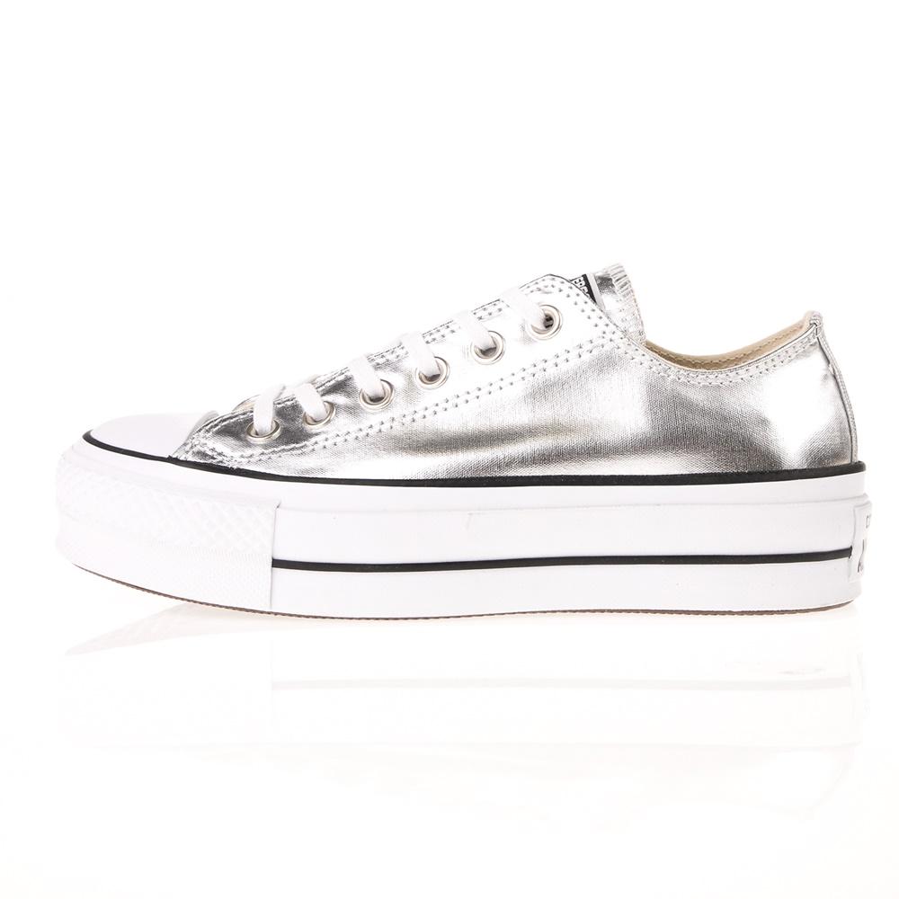 CONVERSE – Γυναικεία παπούτσια CONVERSE CHUCK TAYLOR ALL STAR LIFT ασημί