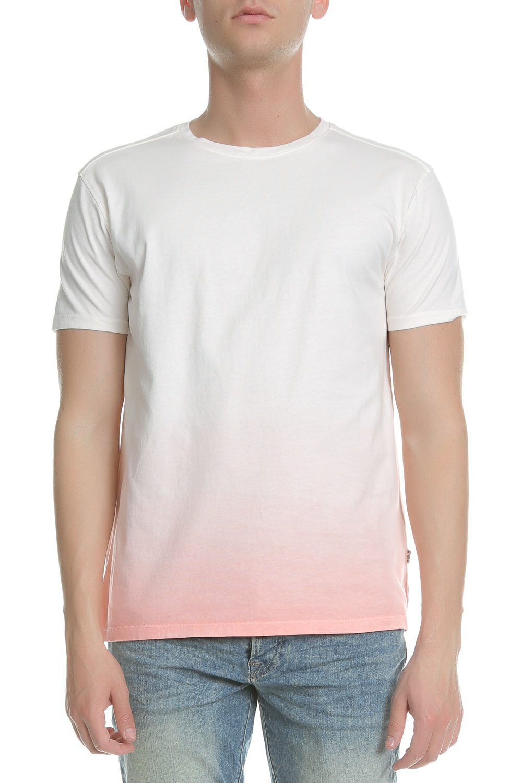 SCOTCH & SODA - Ανδρικό t-shirt SCOTCH & SODA ροζ-λευκό ανδρικά ρούχα μπλούζες κοντομάνικες