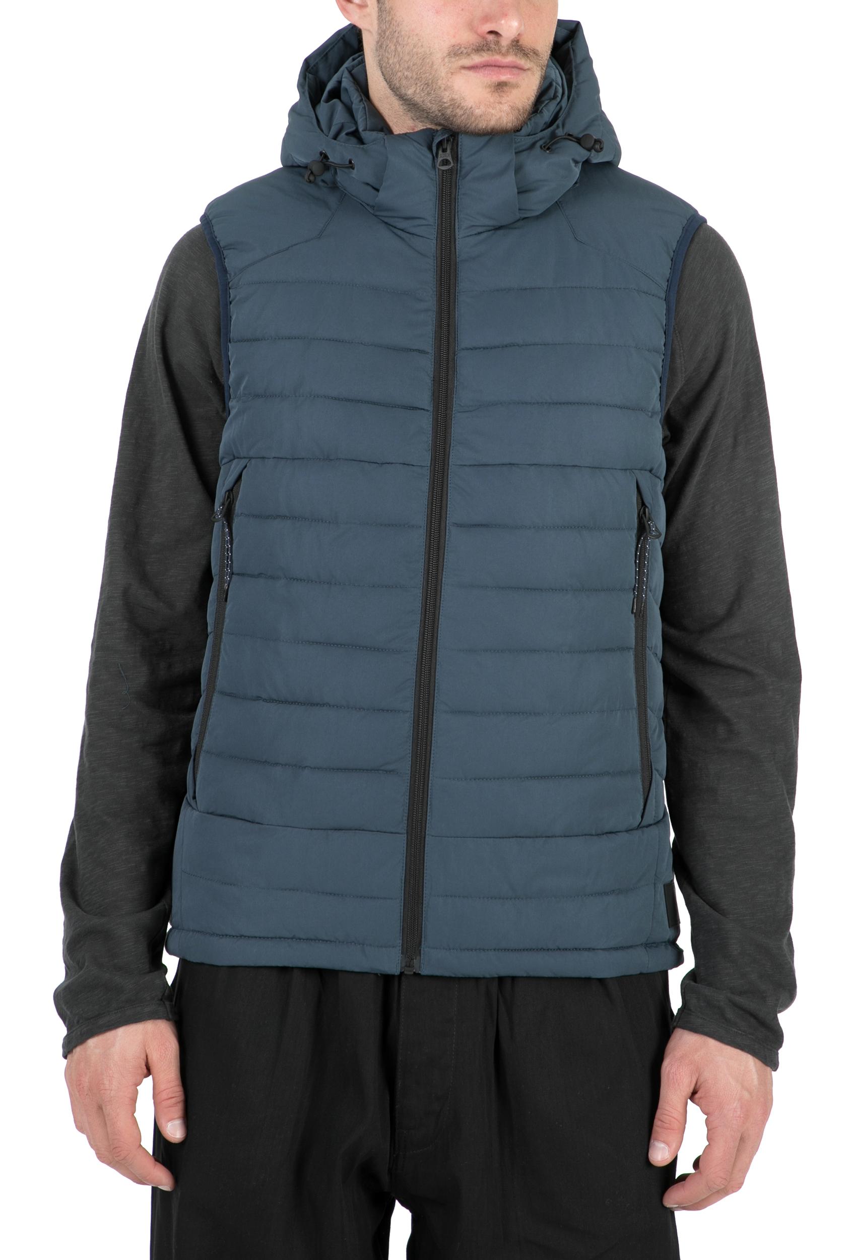 SCOTCH & SODA - Ανδρικό αμάνικο μπουφάν SCOTCH & SODA μπλε ανδρικά ρούχα πανωφόρια αμάνικα μπουφάν