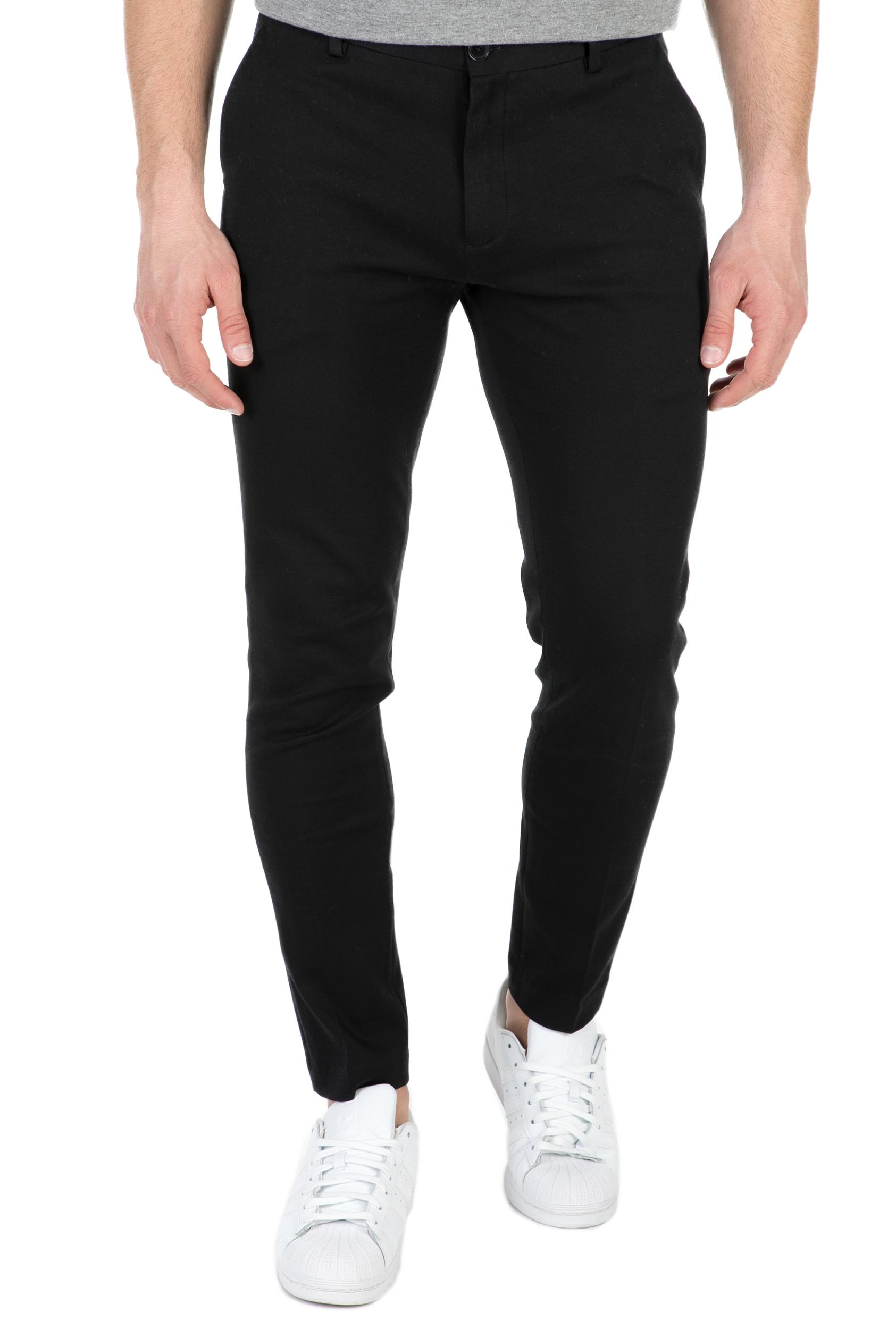 SCOTCH & SODA - Ανδρικό παντελόνι Mott SCOTCH & SODA μαύρο ανδρικά ρούχα παντελόνια chinos