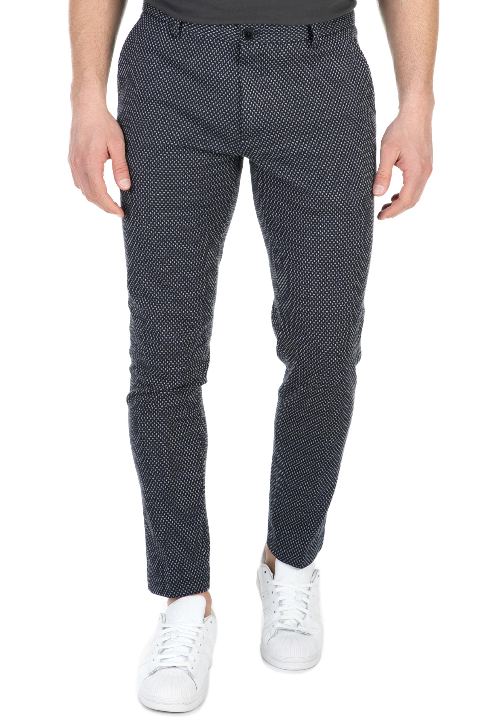 SCOTCH & SODA - Ανδρικό παντελόνι Mott SCOTCH & SODA μαύρο-γκρι ανδρικά ρούχα παντελόνια chinos