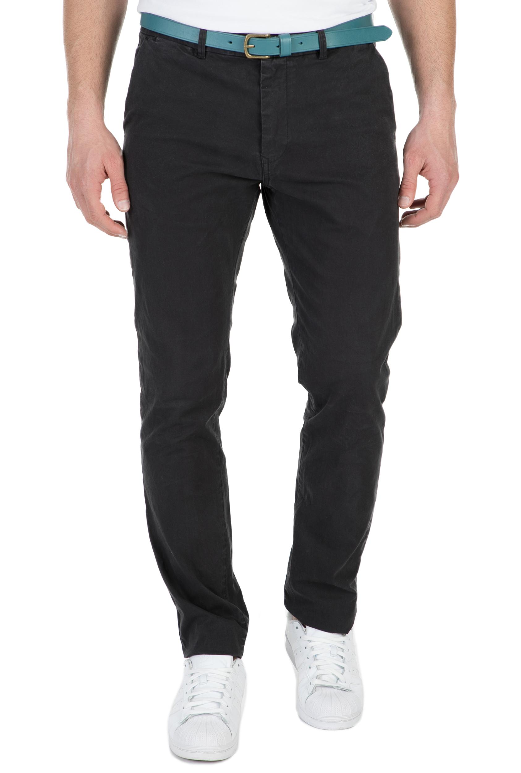 SCOTCH & SODA - Ανδρικό chino παντελόνι SCOTCH & SODA μαύρο ανδρικά ρούχα παντελόνια chinos