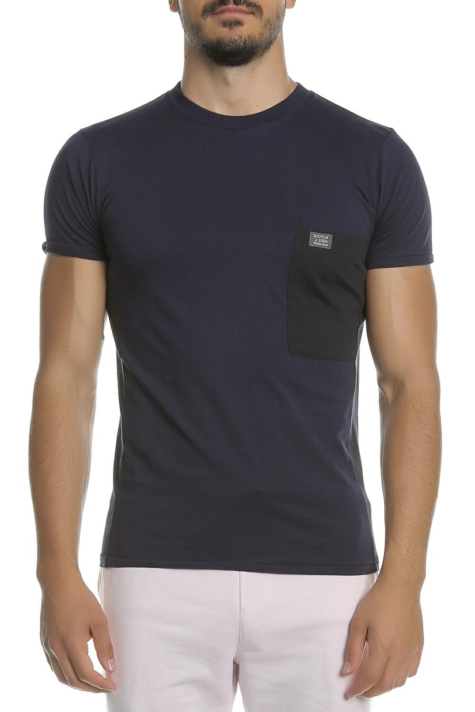 SCOTCH & SODA - Ανδρική κοντομάνικη μπλούζα SCOTCH & SODA μπ...