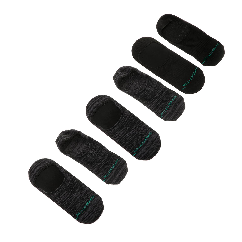 GSA - Σετ ανδρικές κάλτσες GSA AERO 370 FOOTIES 3 PACK γκρι-μαύρες ανδρικά αξεσουάρ κάλτσες