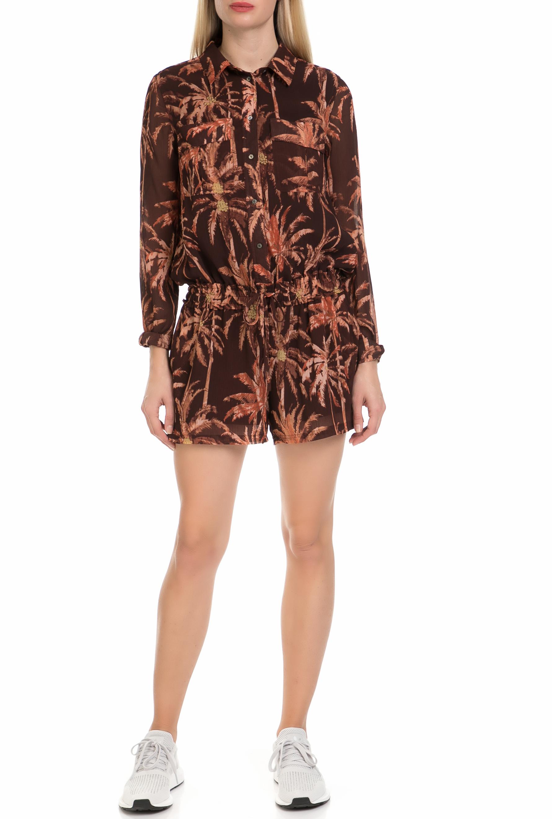 SCOTCH & SODA - Γυναικεία ολόσωμη φόρμα με σορτς SCOTCH & SODA καφέ