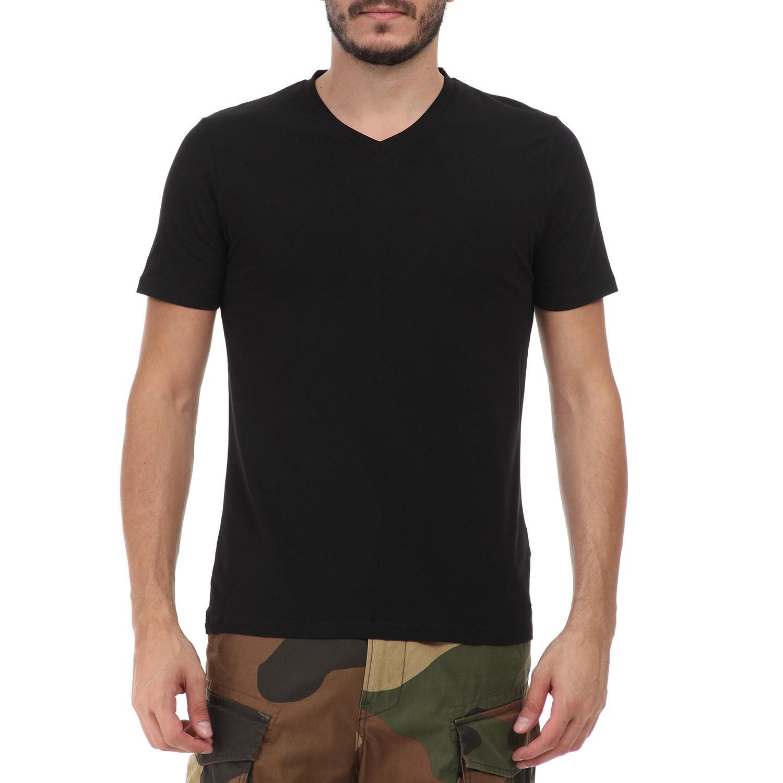 SSEINSE - Ανδρικό t-shirt SSEINSE SCOLLO V μαύρο