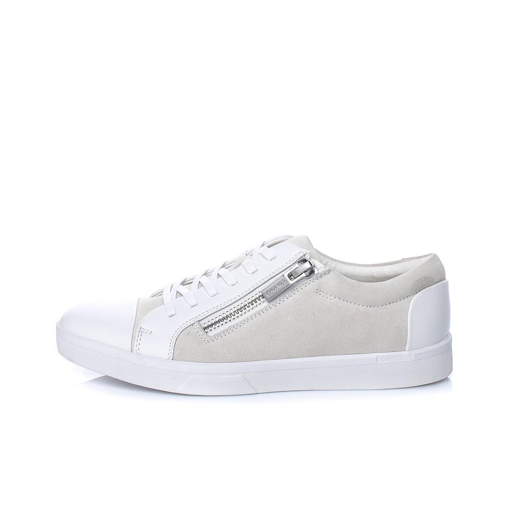 CALVIN KLEIN JEANS – Ανδρικά sneakers CALVIN KLEIN JEANS IBRAHIM λευκά