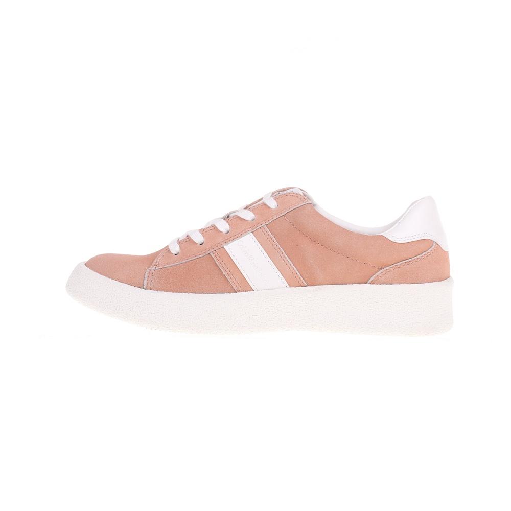 CALVIN KLEIN JEANS – Γυναικεία δερμάτινα sneakers GAIA CALVIN KLEIN JEANS ροζ