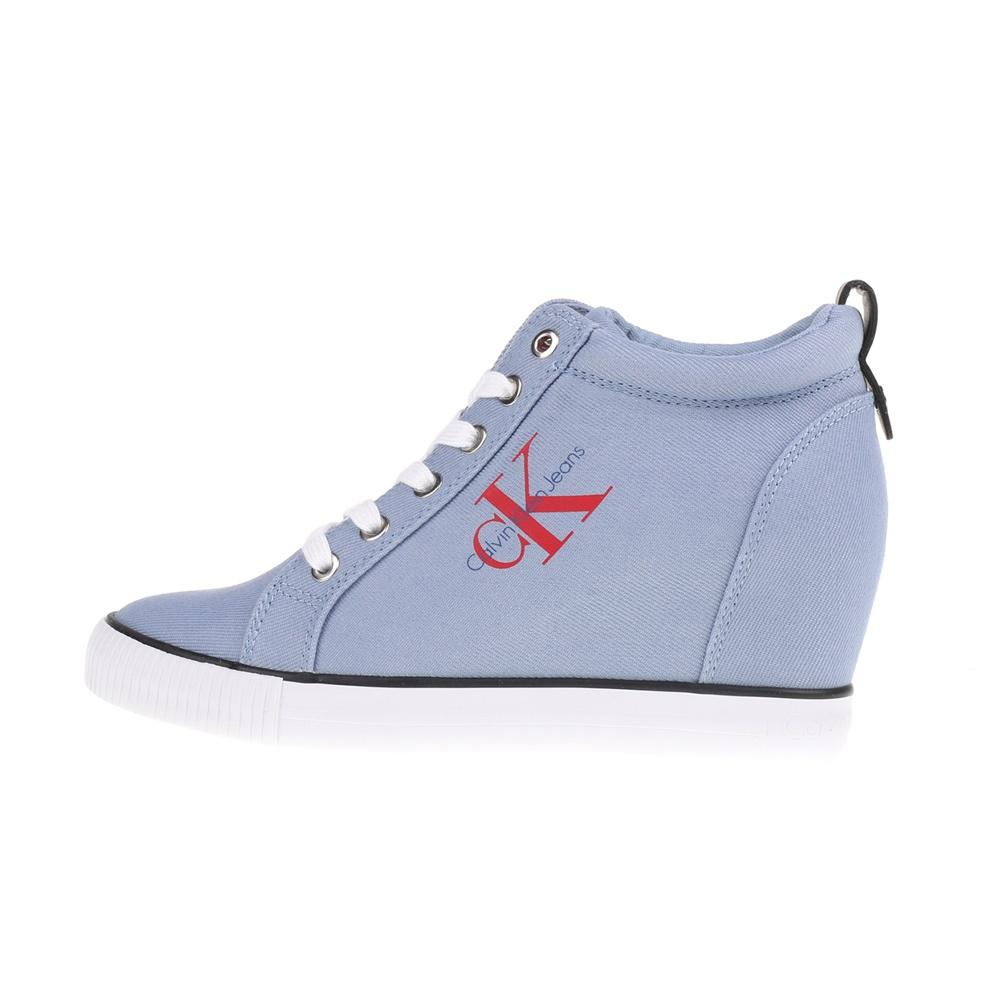 f7b70c99e87 -50% Factory Outlet CALVIN KLEIN JEANS – Γυναικεία ψηλά sneakers RITZY  γαλάζια