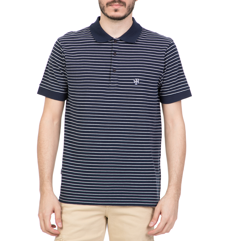 65e4d21faf37 FRANKLIN   MARSHALL - Ανδρική πόλο μπλούζα FRANKLIN   MARSHALL ριγέ