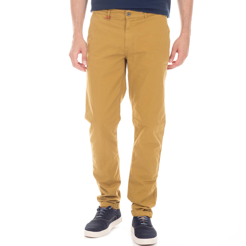 FRANKLIN & MARSHALL - Ανδρικό chino παντελόνι FRANKLIN & MARSHALL μουσταρδί