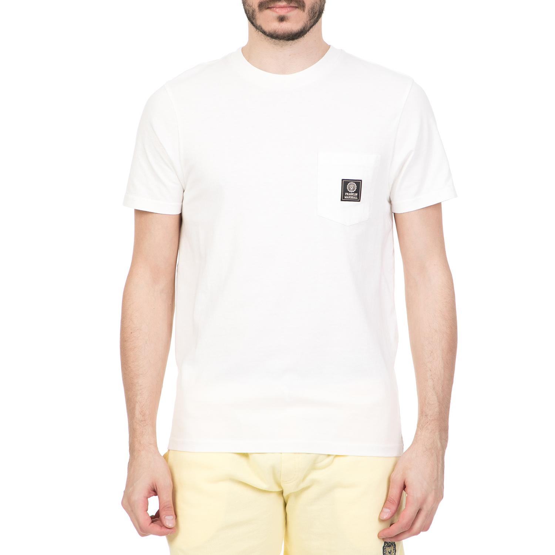 04746977f79d FRANKLIN   MARSHALL - Ανδρική κοντομάνικη μπλούζα FRANKLIN   MARSHALL λευκή