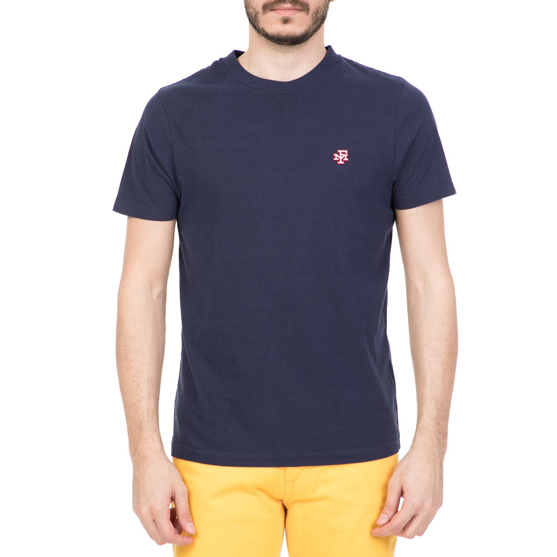 19ed431ff3ff FRANKLIN   MARSHALL - Ανδρική κοντομάνικη μπλούζα FRANKLIN   MARSHALL μπλε
