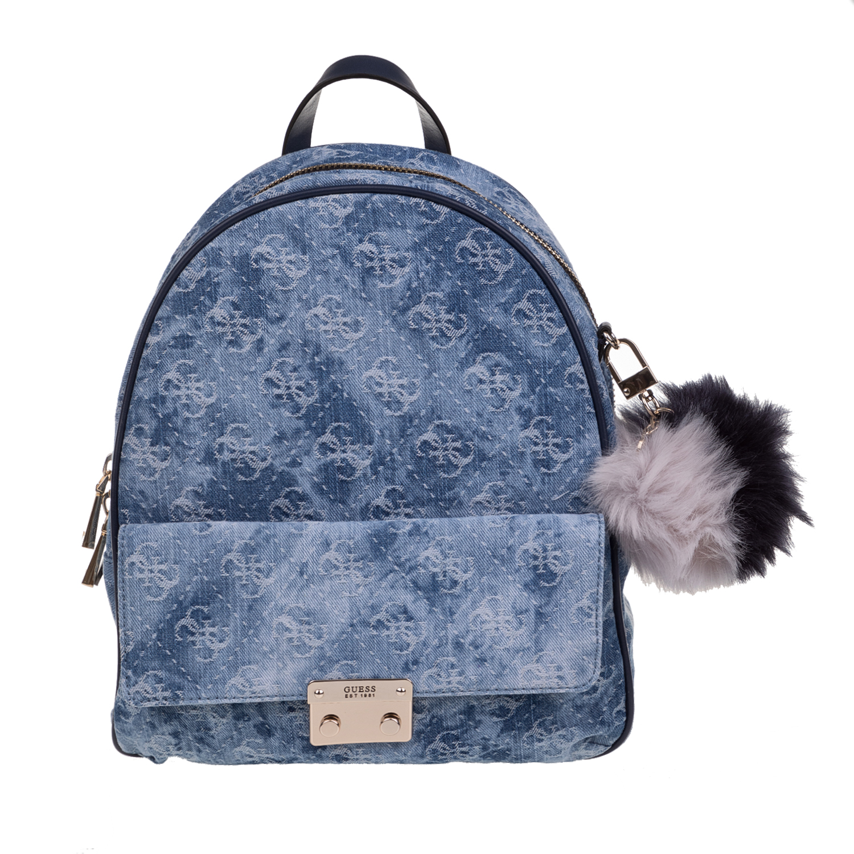 72c684a664 GUESS - Γυναικείο σακίδιο πλάτης GUESS VARSITY POP μπλε με print