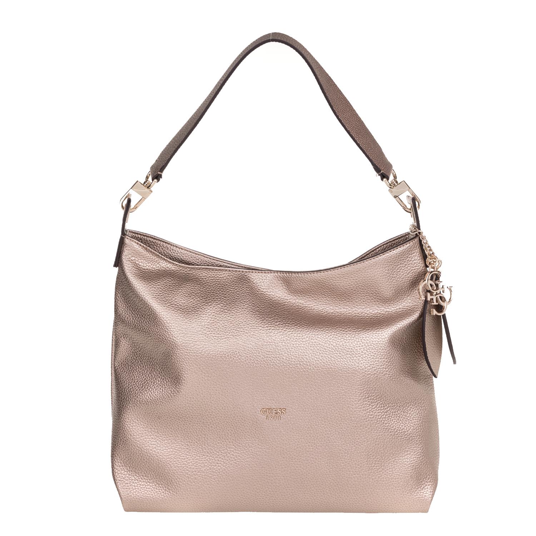 GUESS - Γυναικεία τσάντα ώμου GUESS LOU LOU HOBO χρυσή d61c12ffb54