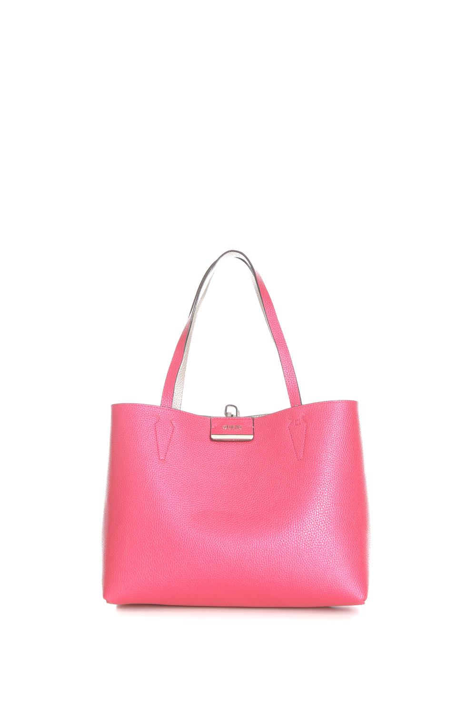 GUESS - Γυναικεία τσάντα ώμου διπλής όψης Guess BOBBI INSIDE OUT TOTE ροζ -χρυσή 70ae761c5ba