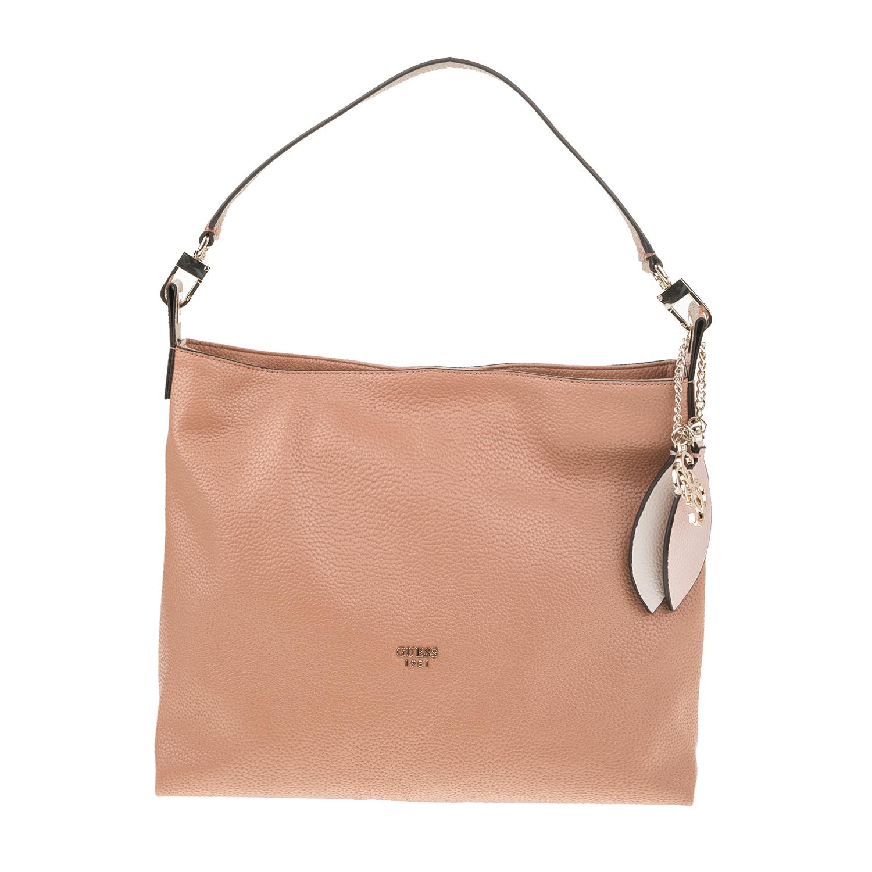 0bbcc11a4b GUESS - Γυναικεία τσάντα ώμου GUESS LOU LOU HOBO καφέ