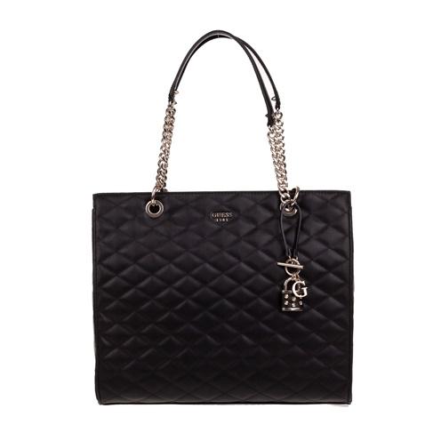 b316d510d45 Γυναικεία τσάντα ώμου καπιτονέ GUESS PENELOPE μαύρη (1608952.0-0071) |  Factory Outlet