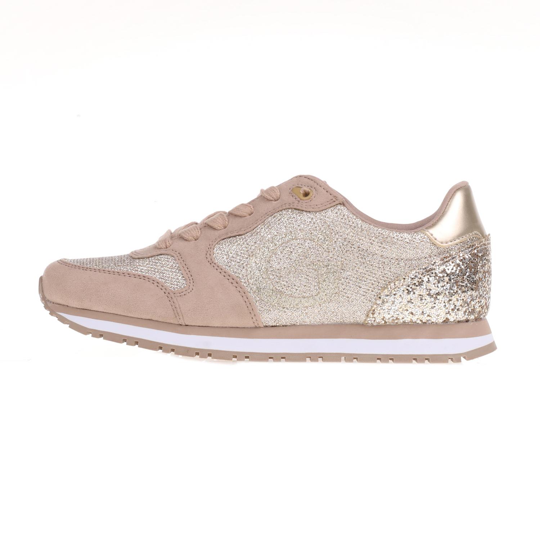GUESS – Γυναικεία sneakers JOHNNY GUESS μπεζ-χρυσά