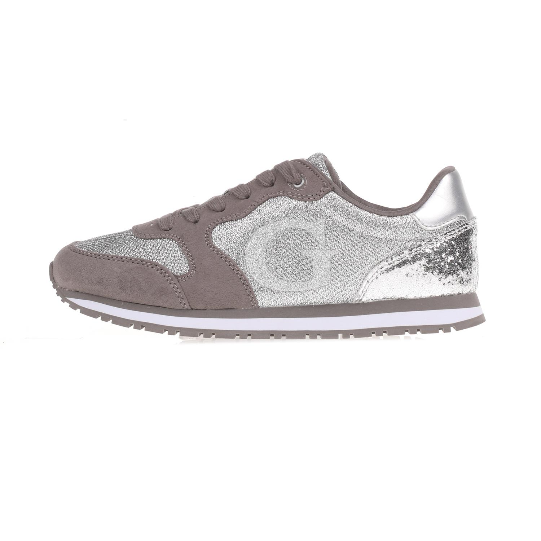 59bca5d8617 GUESS - Γυναικεία sneakers JOHNNY GUESS γκρι-ασημί