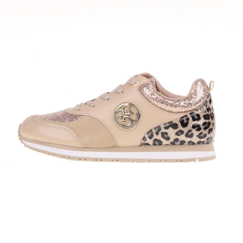 GUESS – Γυναικεία sneakers REETA GUESS μπεζ με print