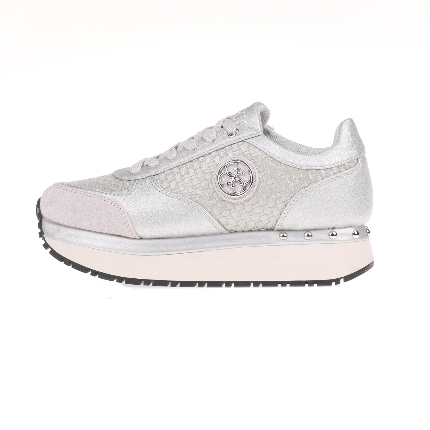 -50% Factory Outlet GUESS – Γυναικεία δίπατα sneakers TIFFANY GUESS ασημί b0f61b38bd7