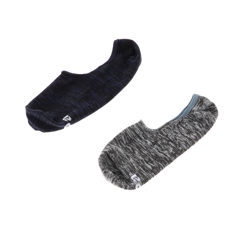 GSA - Ανδρικό σετ κάλτσες MEN JEPA FOOTIES 2 PACK GSA μπλε-γκρι ανδρικά αξεσουάρ κάλτσες