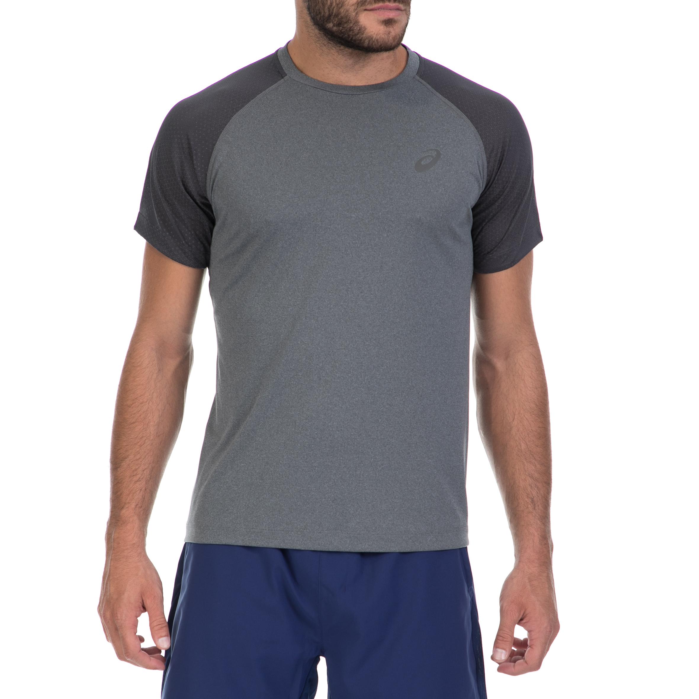 ASICS - Αντρική μπλούζα ASICS γκρι ανδρικά ρούχα αθλητικά t shirt