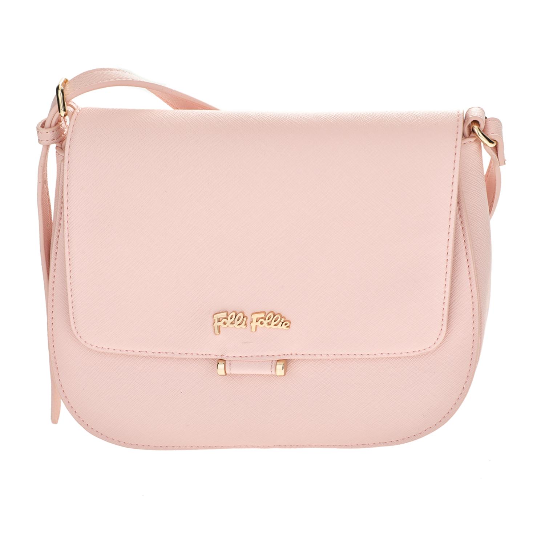 FOLLI FOLLIE - Γυναικεία μικρή τσάντα χιαστί Folli Follie ροζ γυναικεία αξεσουάρ τσάντες σακίδια ωμου