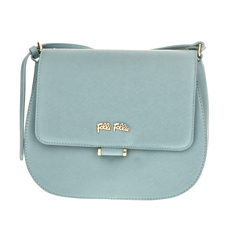 FOLLI FOLLIE - Γυναικεία μικρή τσάντα χιαστί με καπάκι Folli Follie γαλάζια γυναικεία αξεσουάρ τσάντες σακίδια χιαστή   cross body