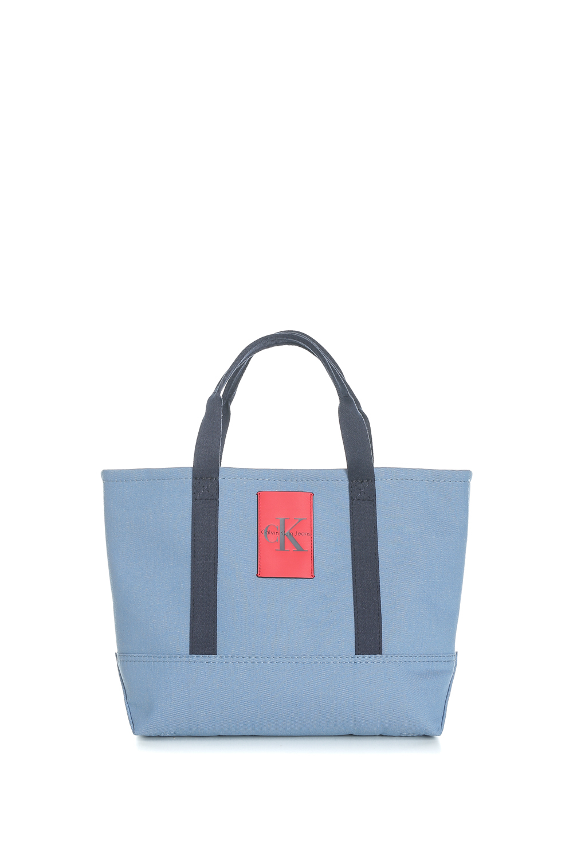 11ba351ea7 CALVIN KLEIN JEANS - Unisex τσάντα χειρός Calvin Klein Jeans CANVAS  CARRYALL TOTE μπλε