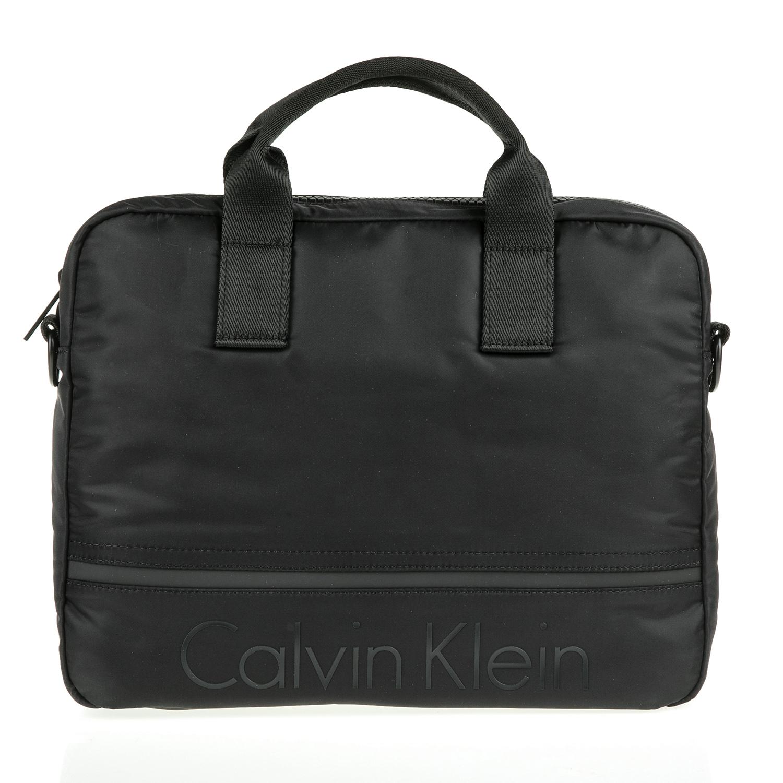 CALVIN KLEIN JEANS - Ανδρική τσάντα laptop Calvin Klein Jeans MATTHEW 2.0 μαύρη ανδρικά αξεσουάρ τσάντες σακίδια χαρτοφύλακες τσάντες laptop