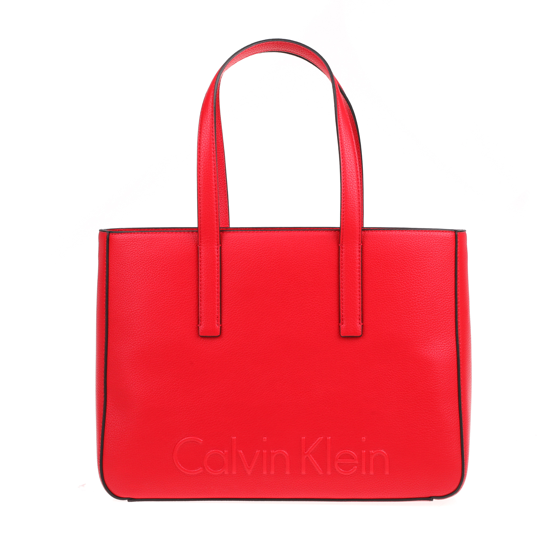 d0389d57d8 CALVIN KLEIN JEANS - Γυναικεία τσάντα χειρός EDGE CALVIN KLEIN JEANS κόκκινη