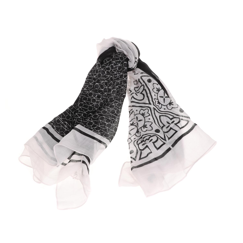 CALVIN KLEIN JEANS - Γυναικείο φουλάρι CALVIN KLEIN JEANS BANDANA PRINT λευκό γυναικεία αξεσουάρ φουλάρια κασκόλ γάντια
