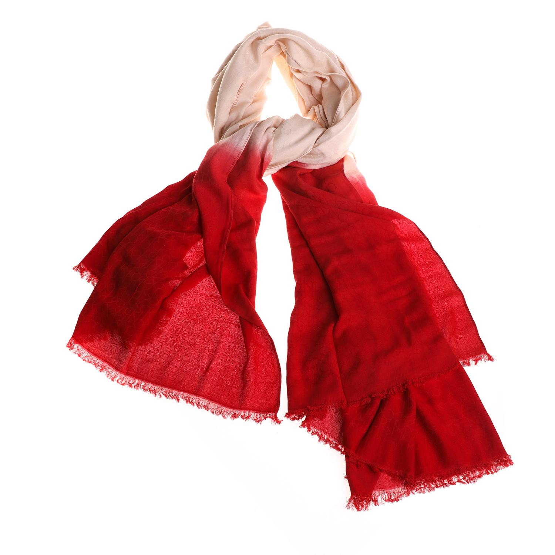 CALVIN KLEIN JEANS - Γυναικείο φουλάρι CALVIN KLEIN JEANS VIVIANNE κόκκινο γυναικεία αξεσουάρ φουλάρια κασκόλ γάντια