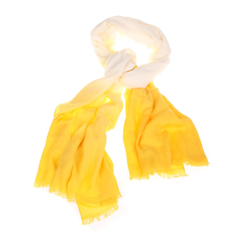CALVIN KLEIN JEANS - Γυναικείο φουλάρι CALVIN KLEIN JEANS VIVIANNE κίτρινο γυναικεία αξεσουάρ φουλάρια κασκόλ γάντια