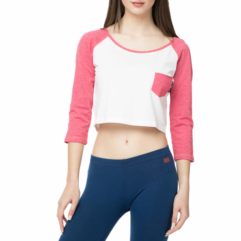 7cd948e26a -35% BODYTALK – Γυναικεία μπλούζα BODYTALK λευκή-ροζ