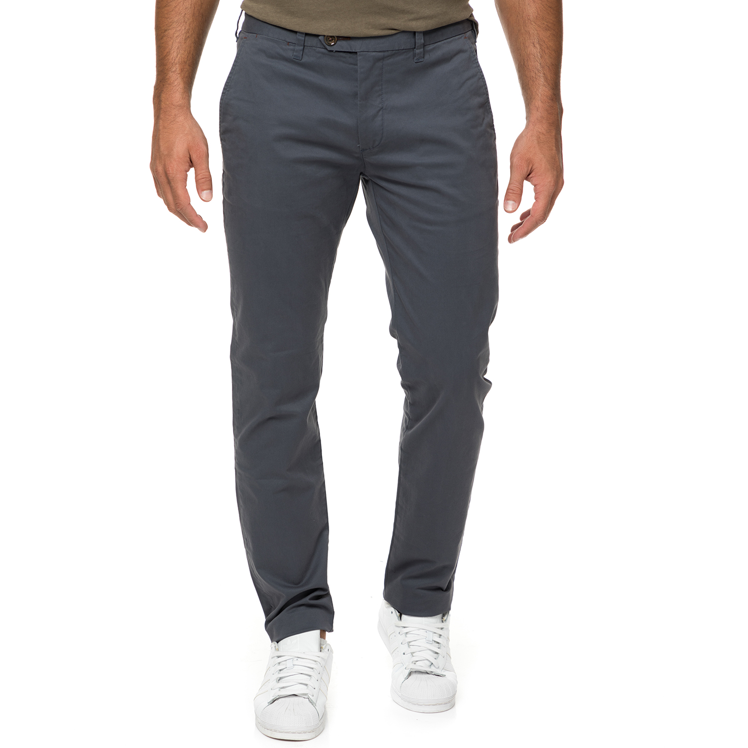 TED BAKER - Ανδρικό chino παντελόνι TED BAKER μπλε ανδρικά ρούχα παντελόνια chinos