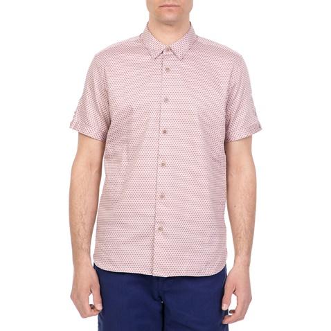 3309d9cea99a Ανδρικό κοντομάνικο πουκάμισο GEO PRINT TED BAKER ροζ (1612248.0-00p7)