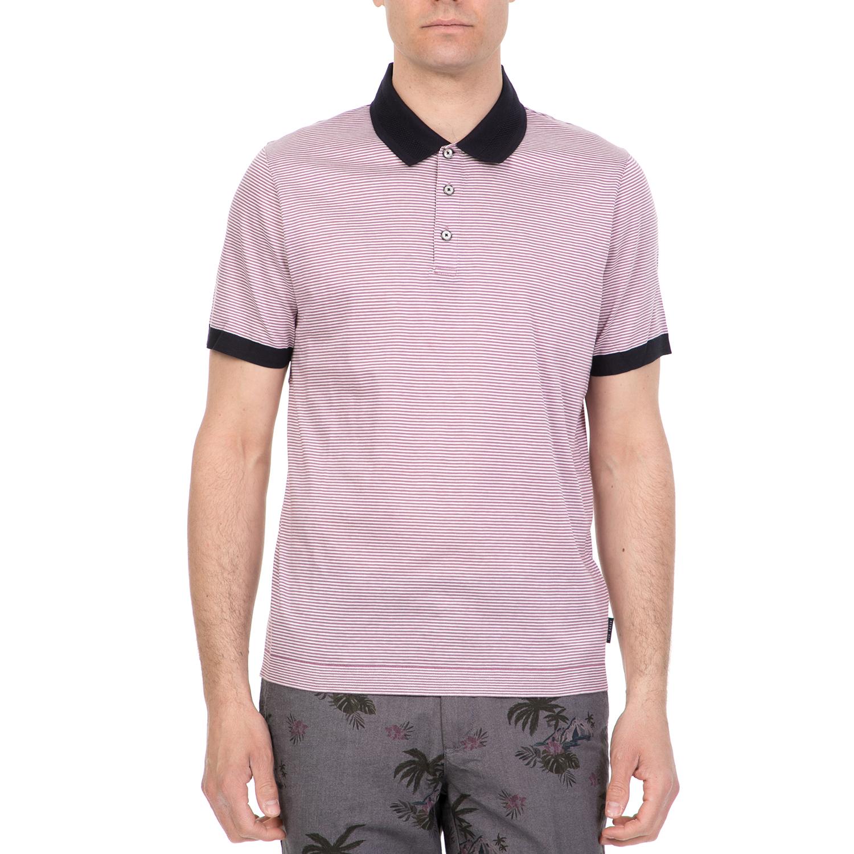 TED BAKER - Ανδρική πόλο μπλούζα BEAGLE TED BAKER μοβ