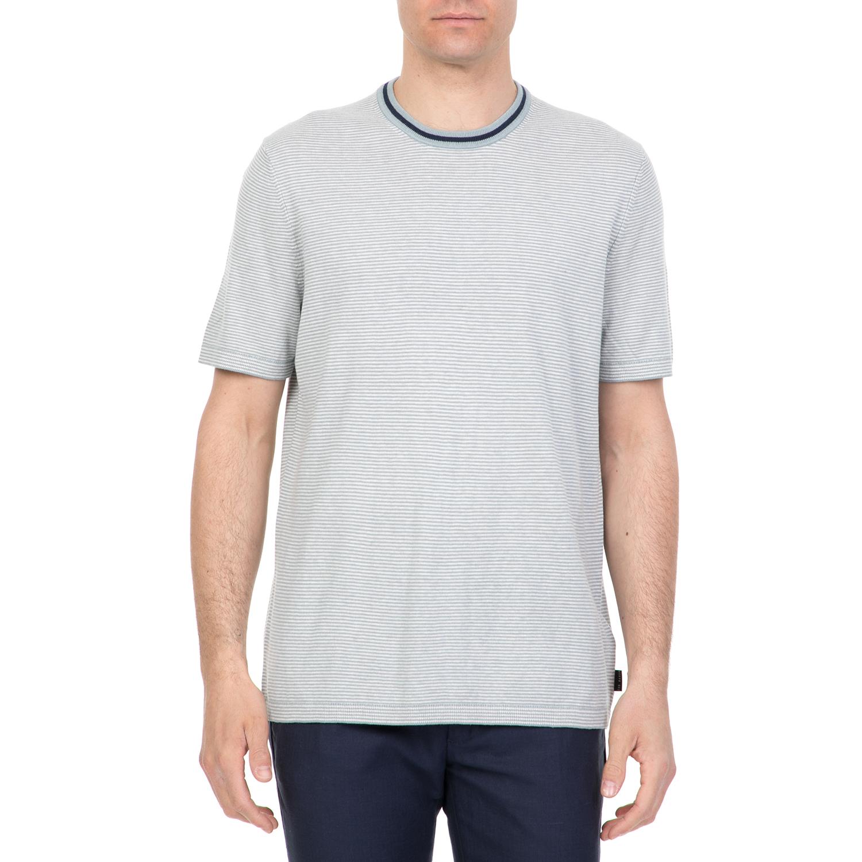 5d91745864c9 TED BAKER - Ανδρική κοντομάνικη μπλούζα TIME ΤED BAKER γκρι