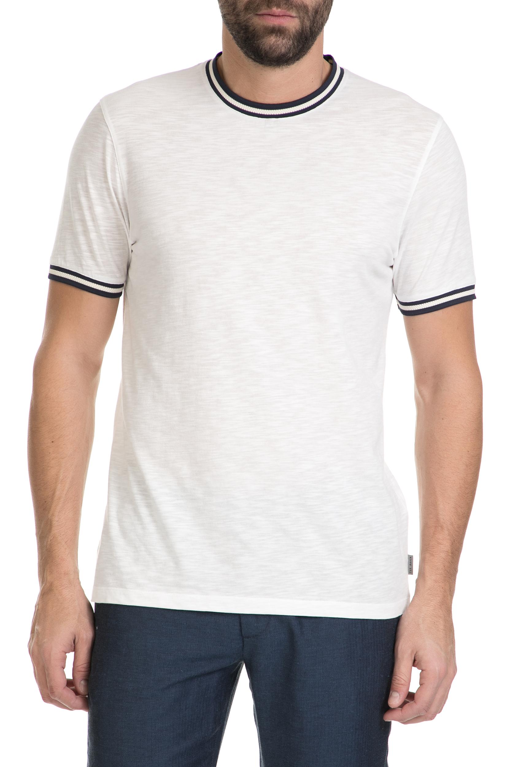 8fb5c3d7aed5 TED BAKER - Ανδρικό κοντομάνικο μπλουζάκι TED BAKER λευκό