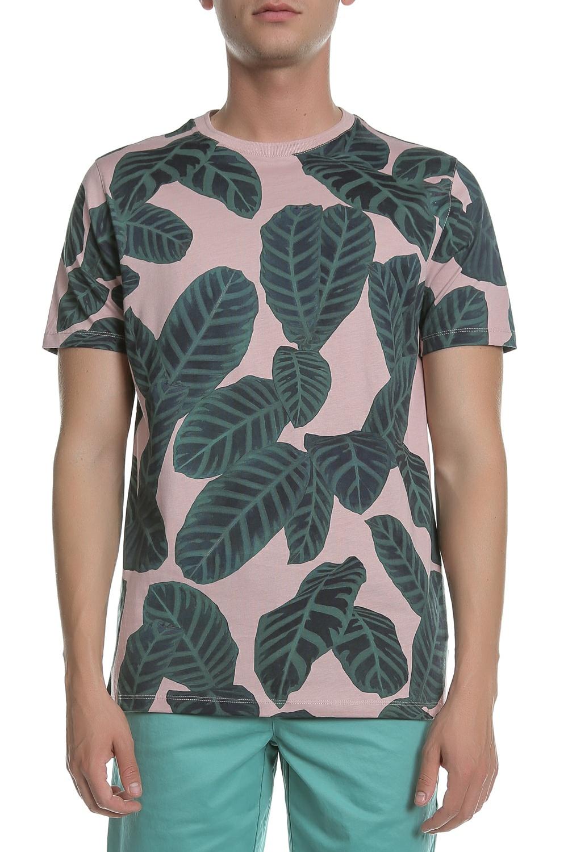 TED BAKER - Ανδρικό t-shirt με σχέδιο MASTIFF LARGE LEAF PRI...