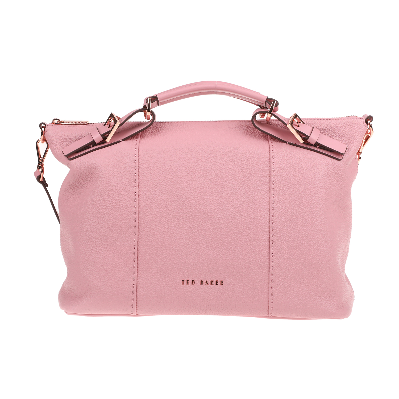 TED BAKER - Γυναικεία τσάντα TED BAKER SALBETT BRIDLE HANDLE ροζ γυναικεία αξεσουάρ τσάντες σακίδια χειρός