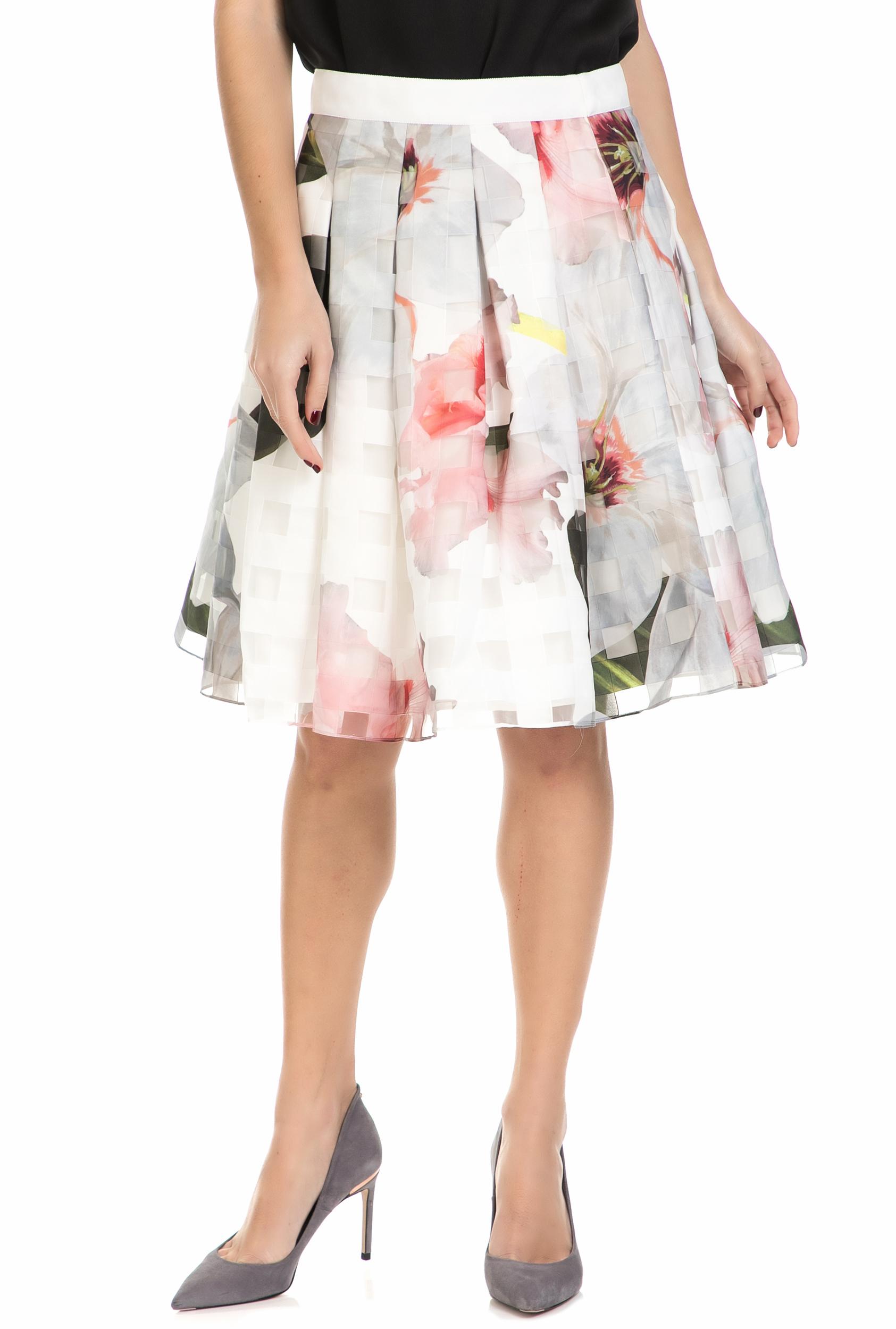 877e4ef25d TED BAKER - Γυναικεία μίντι φούστα κλος VANTA BURNOUT CHATSWORTH ροζ φλοράλ